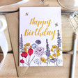 Lisa Angel 'Happy Birthday' Wildflower Greeting Card