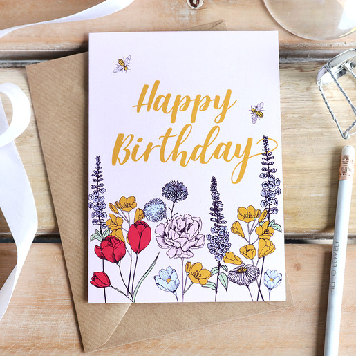 Magnificent Happy Birthday Wildflower Greeting Card Lisa Angel Personalised Birthday Cards Paralily Jamesorg