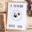 Lisa Angel Funny 'I Puggin' Love You' Greeting Card