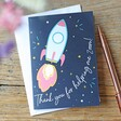 Lisa Angel 'Thank You For Helping Me Zoom' Card