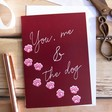 Lisa Angel Romantic 'You, Me & The Dog' Greeting Card