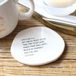 Lisa Angel Ceramic Organic Shape 'Believe in Yourself' Coaster