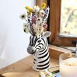 Ladies' Ceramic Zebra Head Vase