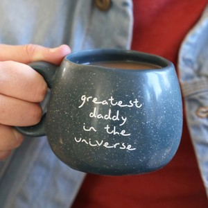 Navy Speckled 'Greatest Daddy' Mug