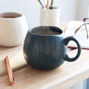 Navy Speckled Organic Shape Mug