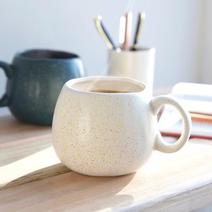 White Speckled Organic Shape Mug