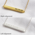 Lisa Angel Bar Necklace Personalisation Alignment