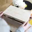 Lisa Angel Ladies' Personalised 'Best Adventures' Wooden Hamper Box