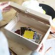 Lisa Angel Special Personalised 'Best Adventures' Wooden Hamper Box