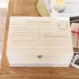 Lisa Angel Personalised Postcard Wooden Hamper Box