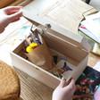 Inside of Personalised Wildflower Hamper Box