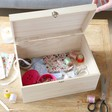 Lisa Angel Large Personalised 'Your Drawing' Wooden Hamper Box