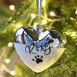 Lisa Angel Personalised Pet Name Metallic Dipped Ceramic Heart Bauble