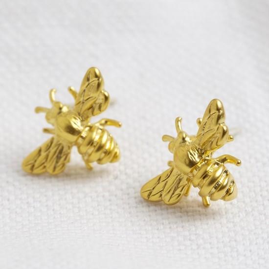 Matt bee earrings