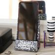 Lisa Angel Personalised Black Terrazzo Phone Stand