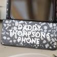 Lisa Angel Men's Personalised Black Terrazzo Phone Stand