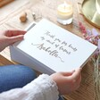 Lisa Angel Ladies' Personalised 'Maid of Honour' Medium White Wooden Box