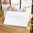 Lisa Angel Children's Personalised Medium White Wooden Box