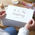 Lisa Angel Engraved Personalised 'Worth The Wait' Medium White Wooden Box