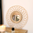Lisa Angel Round Natural Rattan Mirror