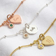 Lisa Angel Ladies' Personalised Birthstone Charm Bracelet