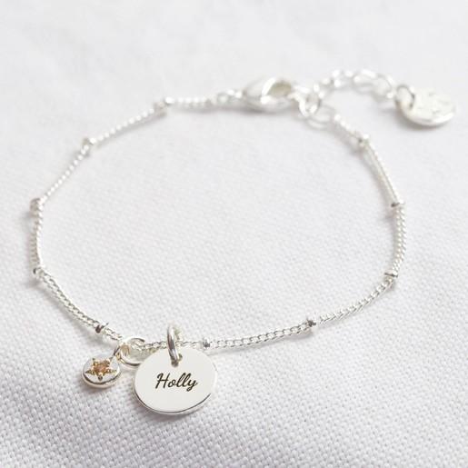 Personalised Birthstone Charm Bracelet Lisa Angel