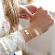 Lisa Angel Personalised Double Charm Wide Chain Bracelet