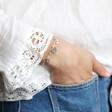 Lisa Angel Ladies' Personalised Initial Charm Wide Chain Bracelet