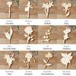Lisa Angel Wooden Birth Flower Backed Sterling Silver Earrings