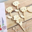 Lisa Angel Wooden Flower with Sterling Silver Earrings