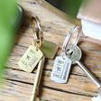 Lisa Angel Engraved Personalised Gold Luggage Tag Keyring