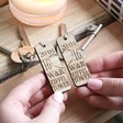 Lisa Angel Engraved Set of 2 Personalised Wooden Memory Keyrings