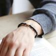 Personalised Handmade Men's Initial Bracelet on Model