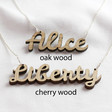 Lisa Angel Personalised Wooden Name Necklace