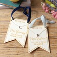 Lisa Angel Ladies' Personalised Wooden 'Teacher' Banner with Silver Necklaces