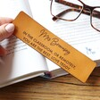 Lisa Angel Personalised Teachers Meaningful Message Leather Bookmark