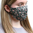 Model Wears Lisa Angel Ladies' Pink Leopard Print Fabric Face Mask