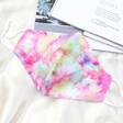 Lisa Angel Ladies' Pink Tie-Dye Fabric Face Mask