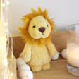 Lisa Angel with Cuddly Jellycat Fluffy Lion Soft Toy