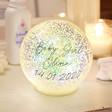 Lisa Angel Personalised Large LED Iridescent Glitter Light Globe
