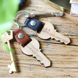 Lisa Angel Personalised Wooden Key Leather Strap Keyring