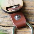 Lisa Angel Brown Personalised Wooden Key Leather Strap Keyring