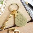 Lisa Angel Engraved 'A Mum Is' Antiqued Brass Keyring
