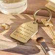 Lisa Angel 'Nana' Antiqued Brass Keyring
