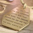 Close Up of Lisa Angel Ladies' 'Precious Daughter' Antiqued Brass Keyring