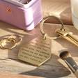 Lisa Angel Ladies' 'Precious Daughter' Antiqued Brass Keyring