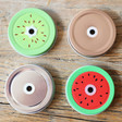 Lisa Angel Fruity Mason Jar Lids