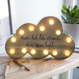 Kids Industrial LED Cloud Quote Light