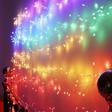 Lisa Angel Plug In Multicoloured Ombre LED String Lights