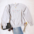 Lisa Angel Unisex Embroidered 'Everything Will Be OK' Sweatshirt in Grey